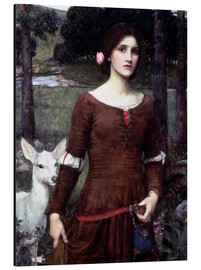 Cuadro de aluminio  Lady Clare - John William Waterhouse