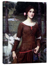 Lienzo  Lady Clare - John William Waterhouse