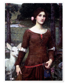 Póster  Lady Clare - John William Waterhouse