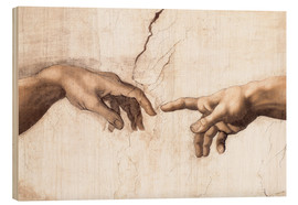 Madera  Sistin. Chapel: Creation of Adam, detail of hands - Michelangelo