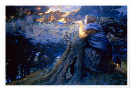 Póster  Twilight Fantasies - Edward Robert Hughes