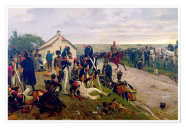Póster  The Morning of The Battle of Waterloo: the French Await Napoleon's Orders, 1876 - Ernest Crofts