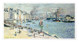 Póster  view of the old outer harbor at le havre - Claude Monet