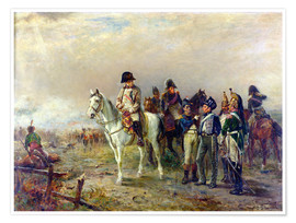 Póster  The Turning Point at Waterloo - Robert Alexander Hillingford
