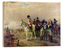 Cuadro de madera  The Turning Point at Waterloo - Robert Alexander Hillingford