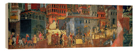 Cuadro de madera  Good Government in the City - Ambrogio Lorenzetti