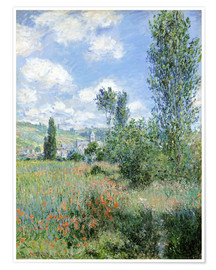 Póster  Way through the poppies - Claude Monet