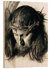 Cuadro de madera  Head of Christ - Franz von Stuck