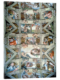 Metacrilato  Sistine Chapel ceiling and lunettes - Michelangelo