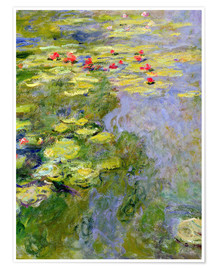 Póster  The lily pond - Claude Monet