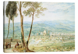 Lienzo  Florence from the road to Fiesole - Joseph Mallord William Turner