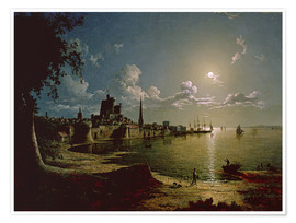 Póster  Moonlight Scene, Southampton - Sebastian Pether