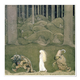 Póster  The Princess and the Trolls, 1913 - John Bauer