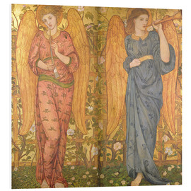 Cuadro de PVC  Angels with an oboe and a trumpet, 1861-62 - John Roddam Spencer Stanhope