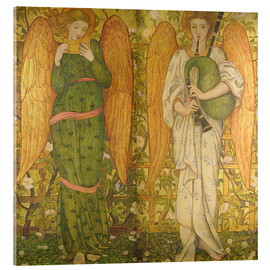 Cuadro de metacrilato  Angels with Pan Pipes and Bagpipes - John Roddam Spencer Stanhope