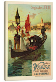Lienzo  Reproduction of a Poster Advertising the Eastern Railway from Paris to Venice - Frederic Hugo D´Alesi