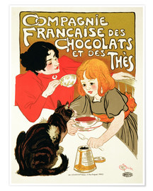 Póster  French Company of Chocolate and Tea - Théophile-Alexandre Steinlen