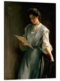 Cuadro de aluminio  Reading the Letter - Thomas Benjamin Kennington