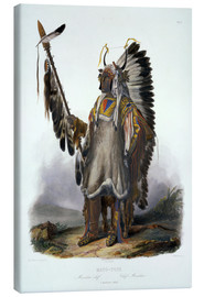 Lienzo  Mato-Tope, a Mandan Chief, plate 13 from Volume 2 of 'Travels in the Interior of North America', eng - Karl Bodmer