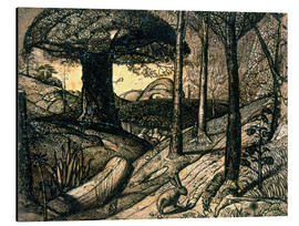 Cuadro de aluminio  Early Morning, 1825 - Samuel Palmer