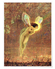 Póster  Iris, detail of the fairy - John Atkinson Grimshaw
