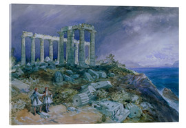 Metacrilato  El templo de Poseidón, Sunium, 1877 - William 'Crimea' Simpson