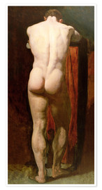 Póster  Standing Male Nude - William Etty