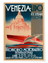 Póster  Venezia Lido 1930 - Travel Collection
