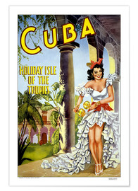 Póster  Cuba - Isla de vacaciones (inglés) - Travel Collection