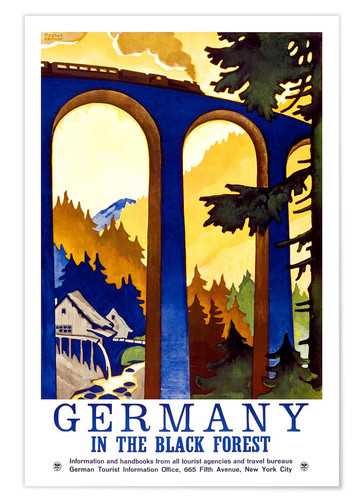 Póster Germany, in the black forest