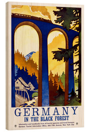 Cuadro de madera  Germany, in the black forest - Travel Collection