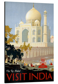 Cuadro de aluminio  Indien - Taj Mahal - Travel Collection