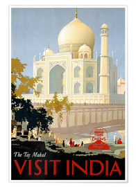 Póster  Taj Mahal, India - Travel Collection