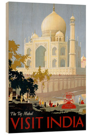Cuadro de madera  Indien - Taj Mahal - Travel Collection