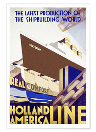 Póster Holland America Line