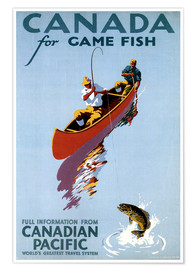 Póster  Canada for Game Fish