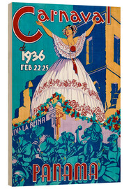 Cuadro de madera  Carnaval Panama 1936 - Travel Collection