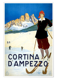 Póster  Cortina d'Ampezzo - Travel Collection