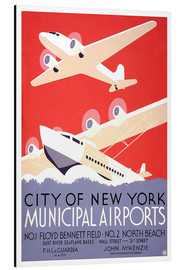Cuadro de aluminio  City of New York - Municipal Airports