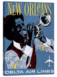 Lienzo  Fly to New Orleans