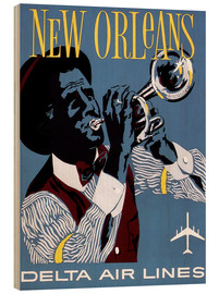 Cuadro de madera  Fly to New Orleans
