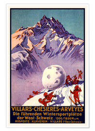 Póster  Winter Sports in Villars, Chesieres and Arveyes - Travel Collection