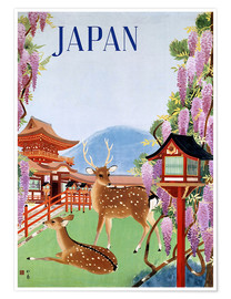 Póster  Vintage Japan tourism - Travel Collection