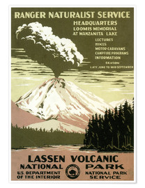 Póster  Lassen Volcanic - National Park - Travel Collection