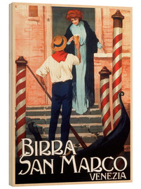 Cuadro de madera  Italy - Birra San Marco Venice - Travel Collection