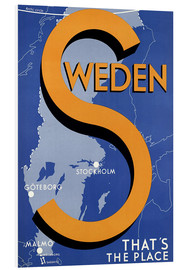 Cuadro de PVC  Sweden - this is the place - Travel Collection