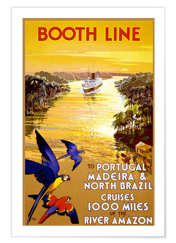 Póster Portugal, Madeira and Brazil