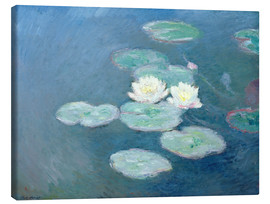 Lienzo  Waterlilies, Evening - Claude Monet