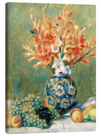 Lienzo  Still Life with Fruit and Flowers - Pierre-Auguste Renoir