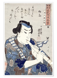 Póster Man Playing a Flute